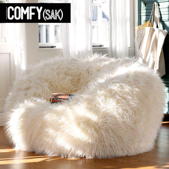 Comfysak_flokati_fur_polar-bear